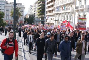 Αντιρατσιστική διαδήλωση στην Αθήνα τον Μάρτιο του 2010